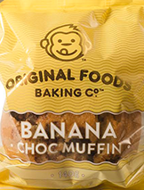 Banana Choc Muffin Mega Original Foods 140g