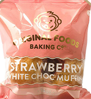 Strawberry & White Chocolate Mega Muffin Original Foods 140g