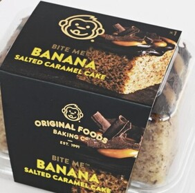 Banana Salted Caramel Cake Single Serve Original Foods 100g