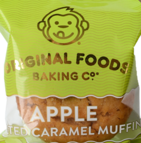 Apple Salted Caramel Mega Muffin Original Foods 140g