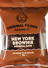 New York Brownie Individual Slice Original Foods 75g